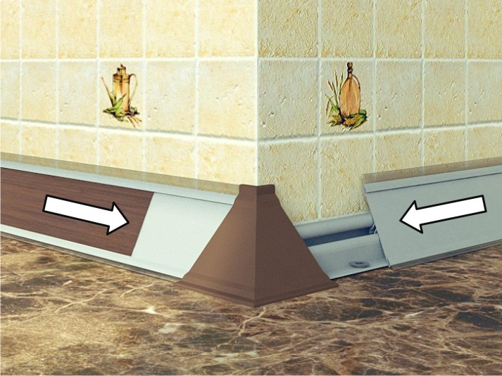 установка плинтуса кухонного гарнитура